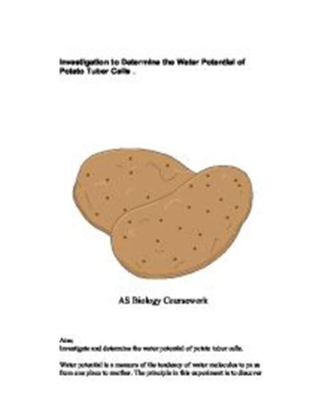Biology coursework osmosis potatoes
